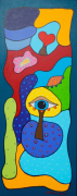 Blue Lagune Acryl Op Linnen 40 X 100 Cm