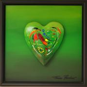 Hartewensen Groen Acryl Op Hout 30x30 Cm10