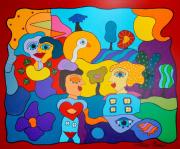 Memories Of The Future Acryl Op Linnen 150x180 Cm