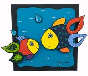 Vissen 60 X 60 Cm 3D Bijgewerkt