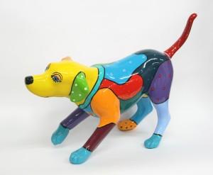 Lady dog acryl op polyester 65 cm 2